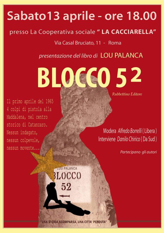 Presentazione di Blocco 52 di Lou Palanca. Sabato 13 aprile