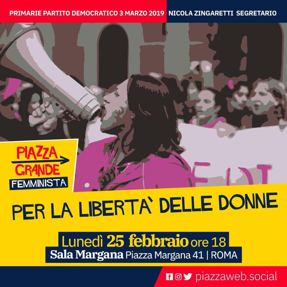 Piazza Grande femminista. 25 febbraio ore 18