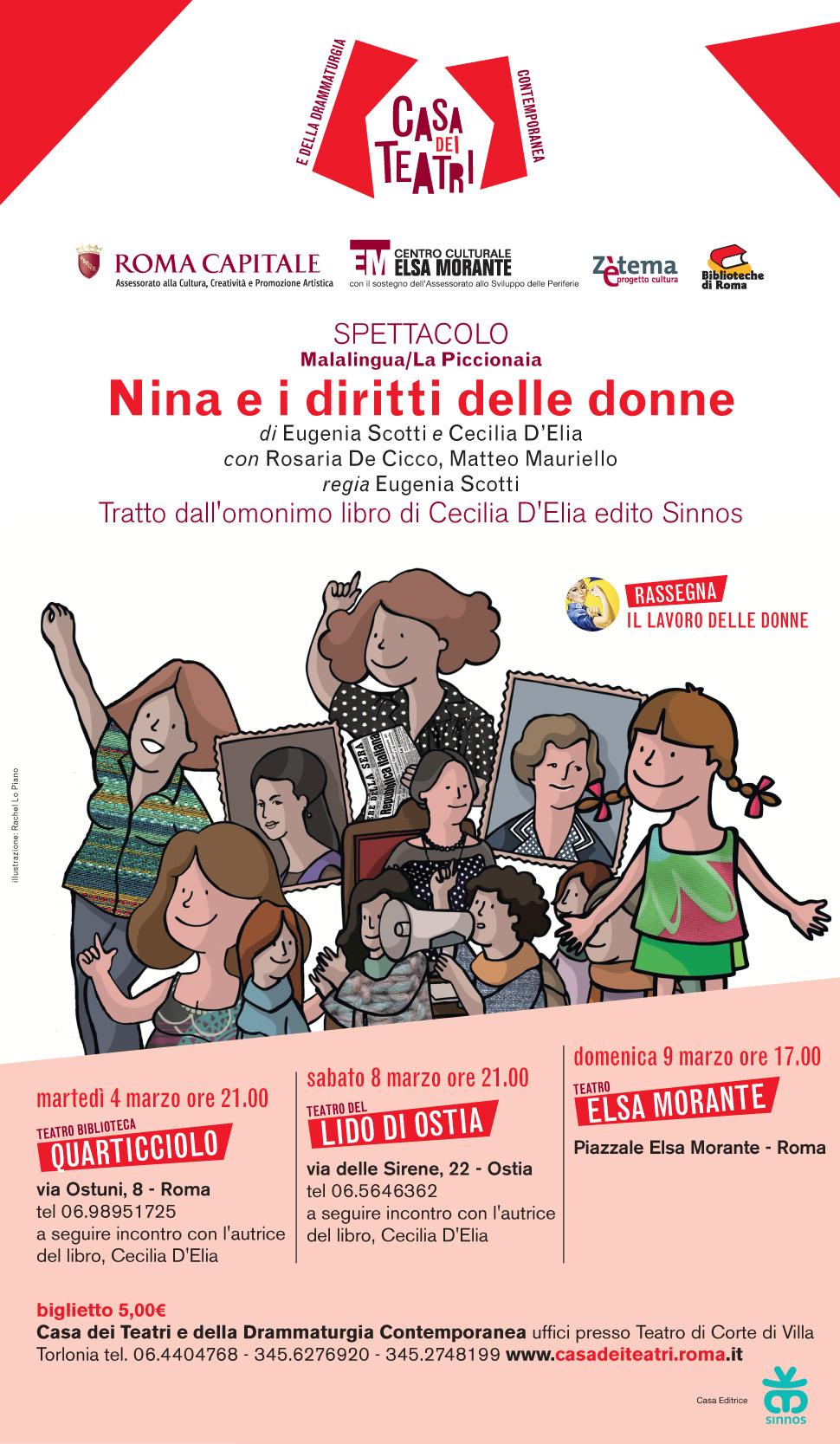 Nina e i diritti delle donne a teatro!