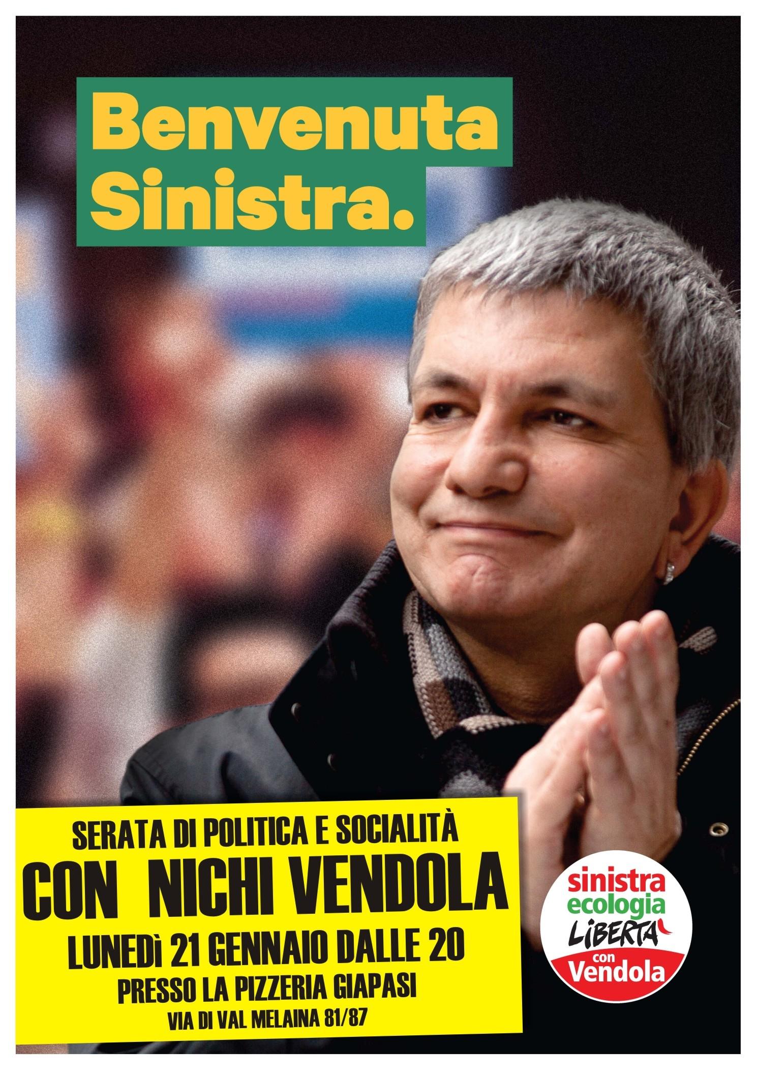 Benvenuta Sinistra. Serata con Nichi Vendola.