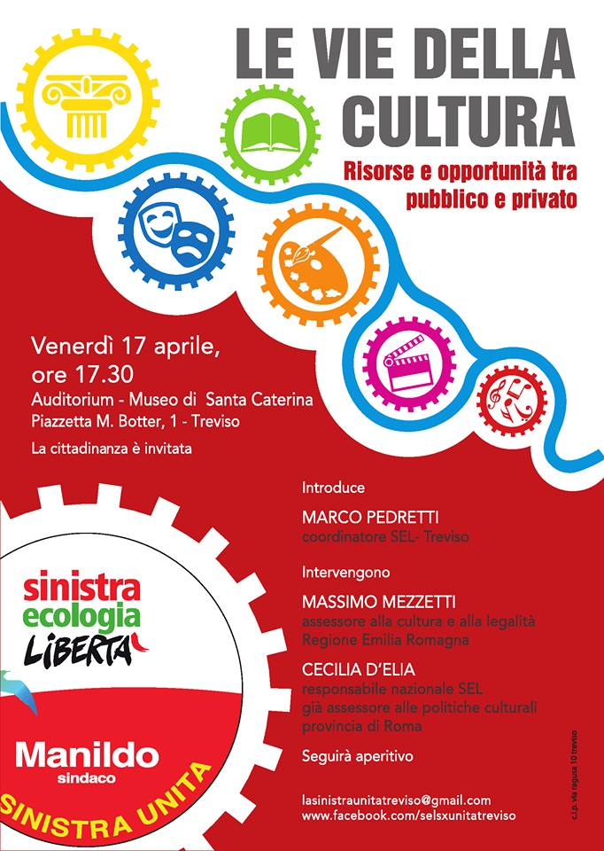 Treviso 17 aprile – Le vie della cultura
